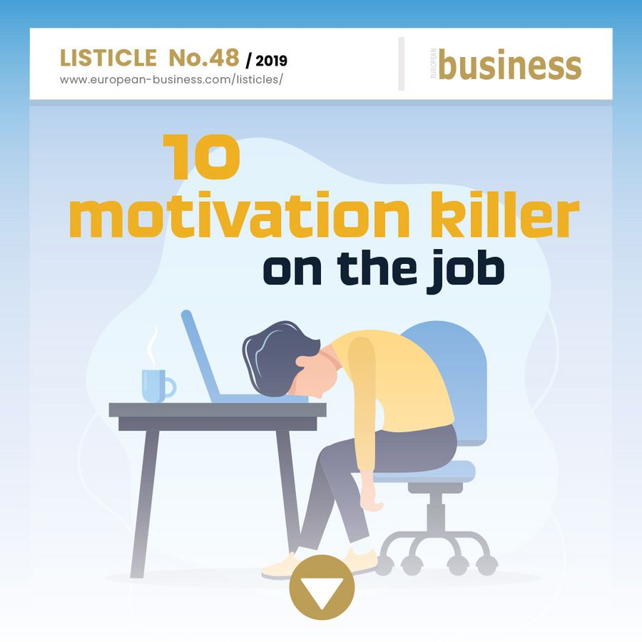 10 motivation killers on the job